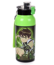 Jewel Cool Splash Insulated Water Bottle With Ben 10 Print Green - 440 ml