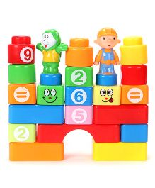 Boy And Cartoon Shaped Block Game - Multicolor