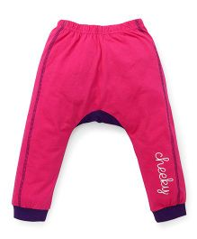 Bodycare Track Pants Cheeky Print - Pink