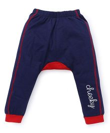 Bodycare Track Pants Cheeky Print - Navy Red