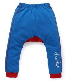 Bodycare Track Pants Cheeky Print - Blue Red