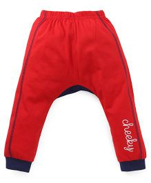 Bodycare Track Pants Cheeky Print - Red Navy