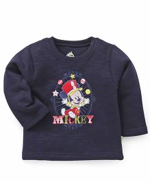 Bodycare Full Sleeves T-Shirt Mickey Print - Navy