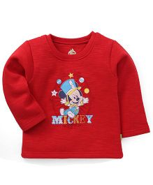 Bodycare Full Sleeves T-Shirt Mickey Print - Red