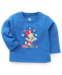 Bodycare Full Sleeves T-Shirt Mickey Print - Blue