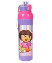 Jewel Cool Splash Dora Printed Insulated Water Bottle - Purple & Pink