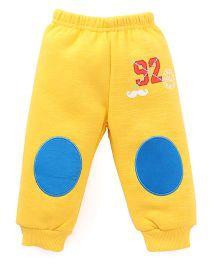 Bodycare Track Pant 92 Print - Yellow