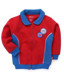 Bodycare Full Sleeves Sweat Jacket - Red