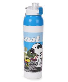 Jewel Cool Splash Coast Life Printed Insulated Water Bottle Blue & White - 710 ml
