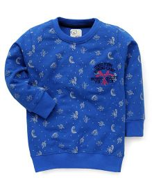 Olio Kids Full Sleeves Sweatshirt Rowing Camp Embroidery - Blue
