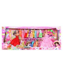 Baby Fashion Doll With Accessories Red Multicolor - Height 29 cm