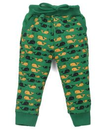 Olio Kids Full Length Lounge Pant Dolphin Print - Green