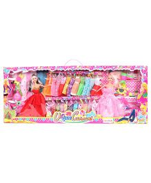 Baby Fashion Doll With Accessories Pink Multicolor - Height 29 cm
