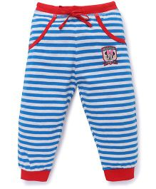 Bodycare Striped Track Pants With Minnie Print - Blue Red