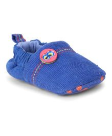 Ivee Stylish Booties With Buttons - Royal Blue