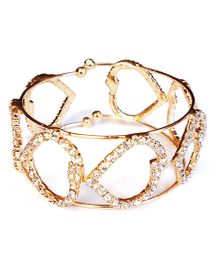 Akinos Kids Daimond Embellished Bracelet - Golden