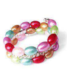 Akinos Kids Classy Beaded Bracelet With Diamonds - Multicolour