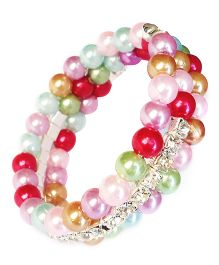 Akinos Kids Classy Beads Bracelet With Diamonds - Multicolour