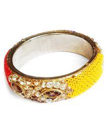 Akinos Kids Stylish Ethnic Bangle With Multi Diamond Stones - Multicolour
