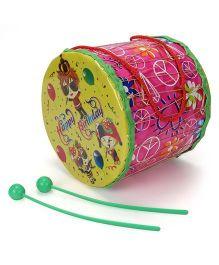 Mansaji Rock Toy Drum Set - Yellow Pink
