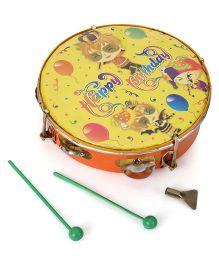 Mansaji Toy Dafli With Sticks - Green Yellow Orange