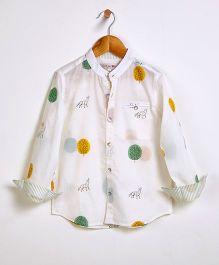 Liz Jacob Fox In The Woods Shirt - Cream & Green