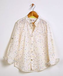 Liz Jacob Triangle Trove Shirt - Cream & Multi-Colours