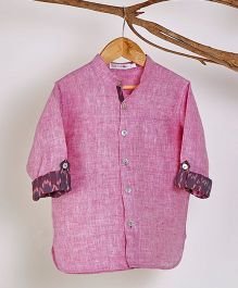 Liz Jacob Pale Linen Shirt - Magenta