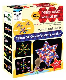 Play Panda Magnetic Puzzles Triangles 500 Magnets - Multi Color