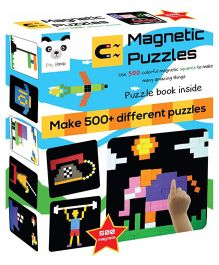 Play Panda Magnetic Puzzles Squares 500 Magnets - Multi Color