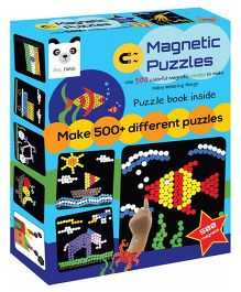 Play Panda Magnetic Puzzles Circles 500 Magnets - Multi Color