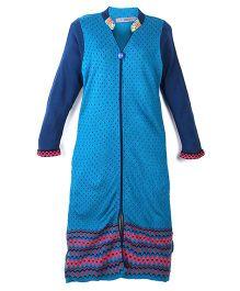 Dove Apparel Full Sleeves Winter Woolen Maternity Kurti - Blue