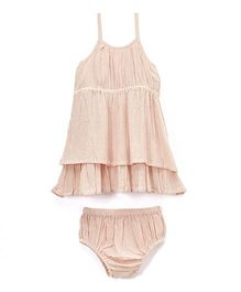Yo Baby Tank Dress & Diaper Cover - Blush Pink