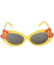 Kids Oval Sunglasses With Bow Appliques - Yellow