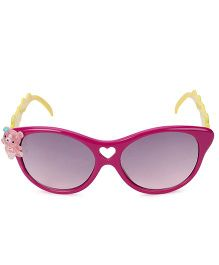 Kids Cateye Sunglasses With Teddy Appliques - Purple