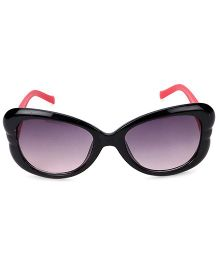 Kids Sunglasses With Butterfly Appliques - Black