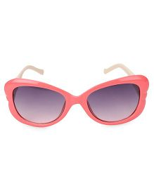 Kids Sunglasses With Butterfly Appliques - Pink