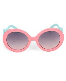 Kids Round Sunglasses With Clouds Print - Peach