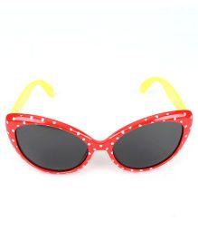Kids Cat Eyes Sunglasses Dots Print - Red Yellow
