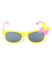 Kids Sunglasses With Bunny Ears Appliques - Pink Yellow