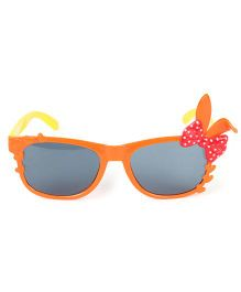 Kids Sunglasses With Bunny Ears Appliques - Orange Yellow