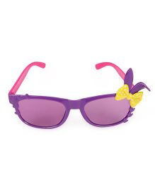 Kids Sunglasses With Bunny Ears Appliques - Pink Purple