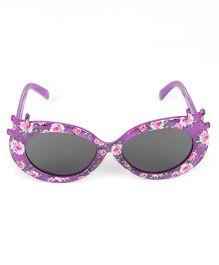 Kids Cat Eye Sunglasses Floral Print - Purple
