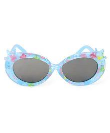 Kids Cat Eye Sunglasses Floral Print - Blue