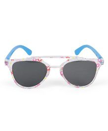 Kids Cateye Sunglasses Flower Print - Pink Blue