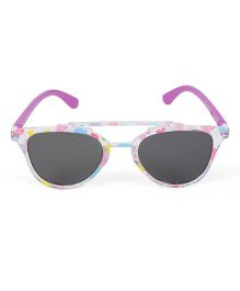 Kids Cateye Sunglasses Flower Print - Pink Purple
