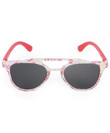 Kids Cat Eye Sunglasses Floral Print - Pink Red
