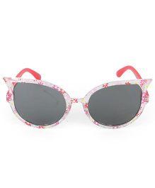 Kids Cat Eye Sunglasses Floral Print - Pink