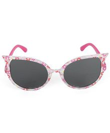 Kids Cat Eye Sunglasses Floral Print - Fuchsia