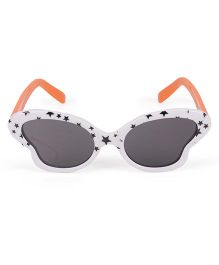 Kids Sunglasses - White Orange